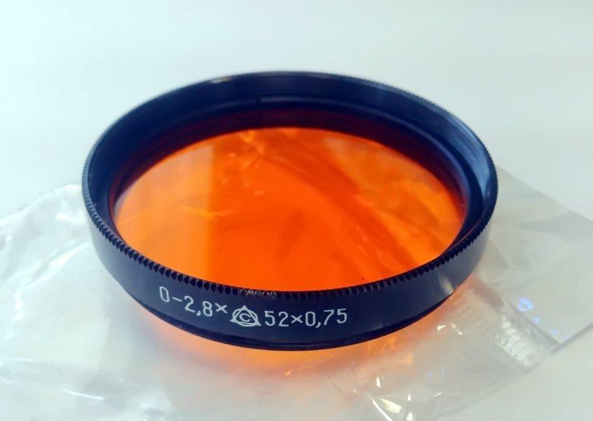 Светофильтр О-2,8Х 52х0,75