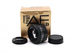 Nikon 50mm f/1.4D AF Nikkor в упаковке