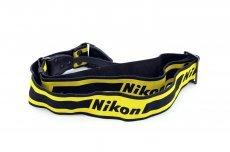 Ремень Nikon желтый с черной надписью
