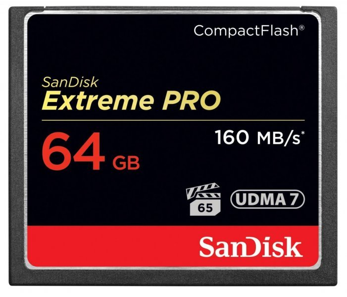 Compact Flash SanDisk Extreme Pro 64GB 160MB/s