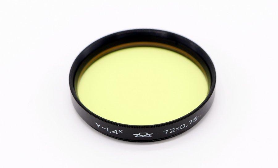 Светофильтр Ж-1,4x 72х0,75