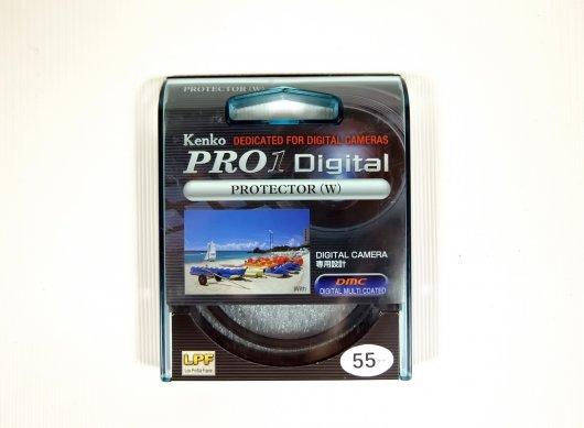Светофильтр Kenko Pro1 Digital Protector (W) 55mm Japan