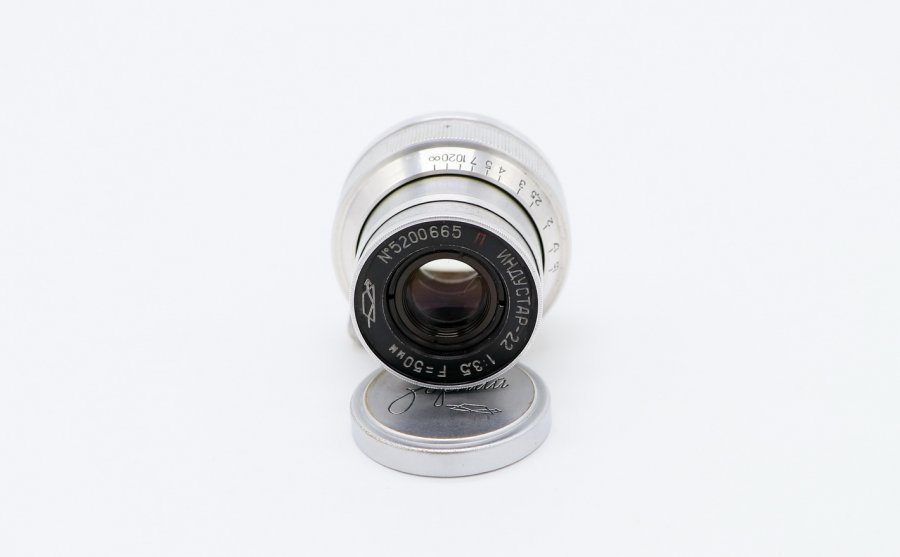 Индустар-22 П 3.5/50мм ригельный (КМЗ, 1952г.)