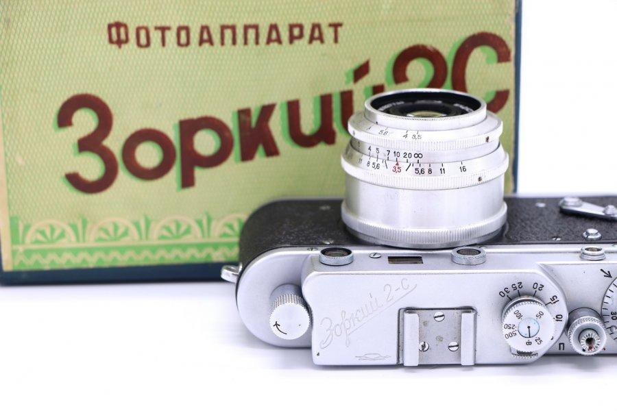 Зоркий 2С в упаковке (СССР, 1959)