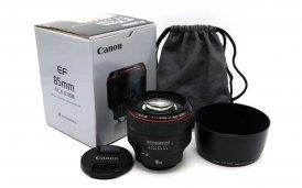 Canon EF 85mm f/1.2L II USM в упаковке