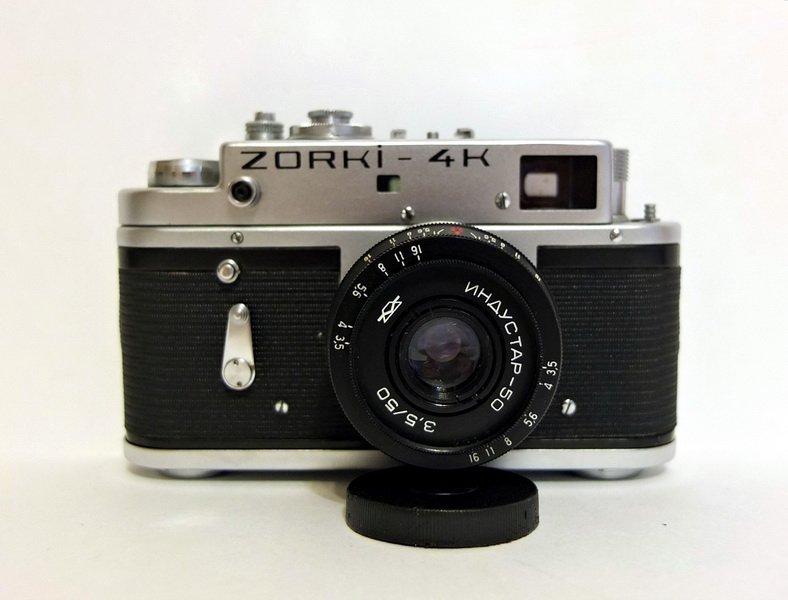 Зоркий 4К + Индустар-50 3,5/50 (КМЗ, 1976)