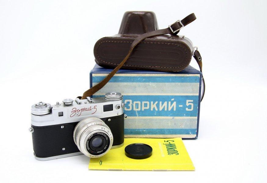 Редкость Зоркий-5 в упаковке 1958 г.