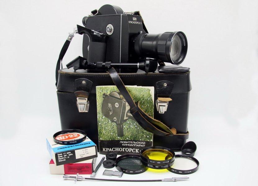 Кинокамера Красногорск-3 М42 комплект
