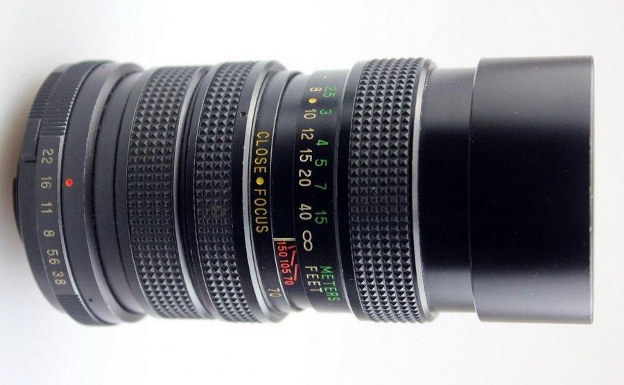 Vivitar 70-150mm 3,8 close focusing