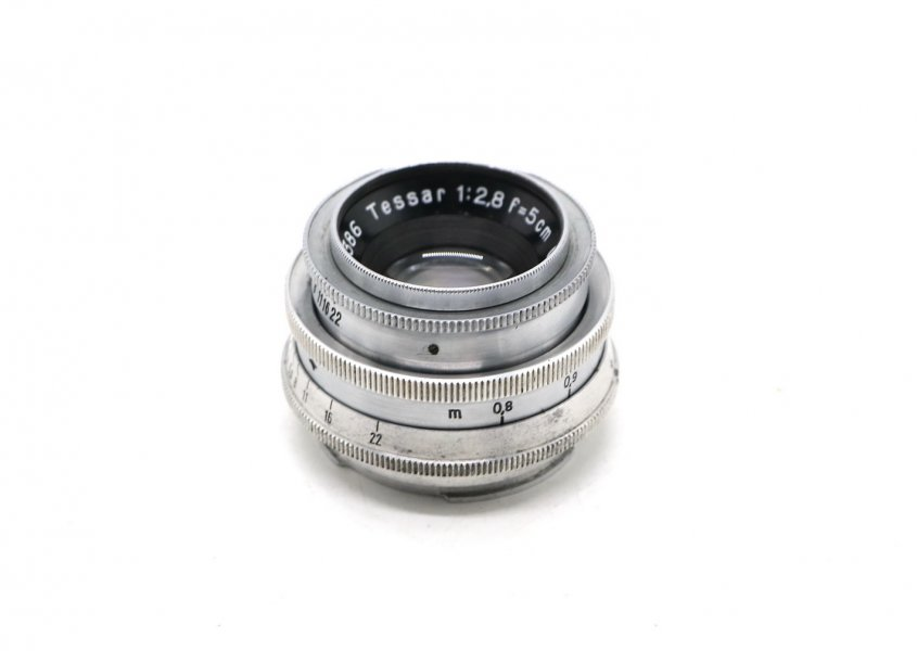 Tessar 2.8/5cm Carl Zeiss Jena (Germany,1938)